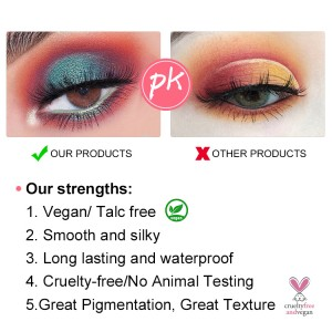 wholesale eyeshadow palette vegan high pigment private label eyeshadow palette custom your own logo