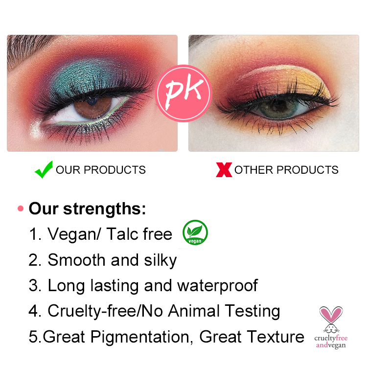 High Quality Eyeshadow Palette - wholesale eyeshadow palette vegan high pigment private label eyeshadow palette custom your own logo – Iris Beauty detail pictures