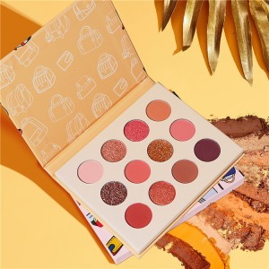 Custom eyeshadow palette private label cosmetics makeup products eyeshadow palette vendor