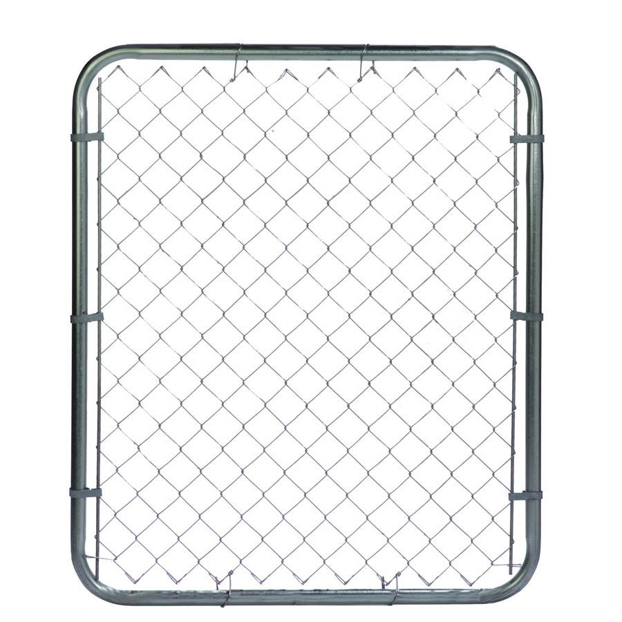 PVC Coated Chain Link Fence Garden Gate for Residential