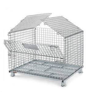 Euro Style Welded Foldable Wire Mesh Container ...