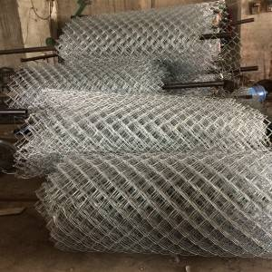 High Zinc Coated 200g / SQM Galvanized Chain Link Fencing for Residential