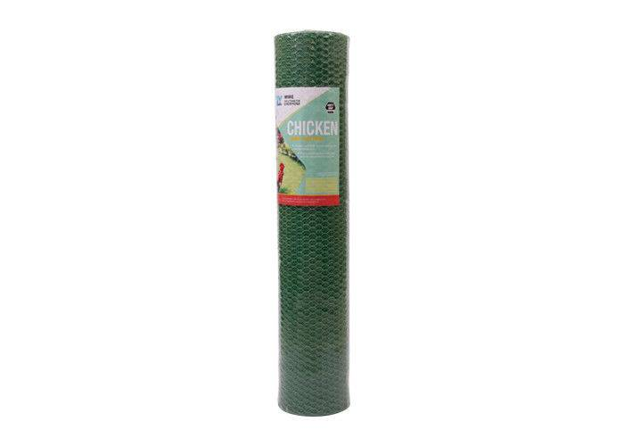 Anti – Rust Vinyl 13mm PVC Coated Wire Netting Green Chicken Wire Fencing