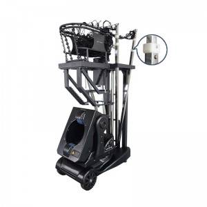 Basketball training machine without remote control