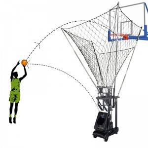 Basketball training machine with remote control