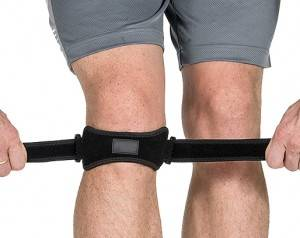 Single strap patella belt