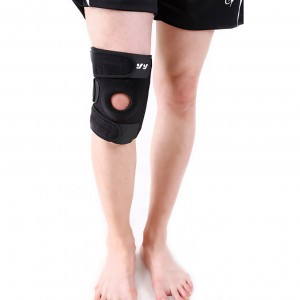 Open patella knee brace