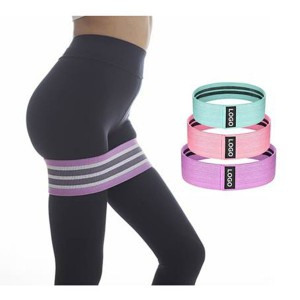 Fitness squat elastic circle booty band hip resistance band