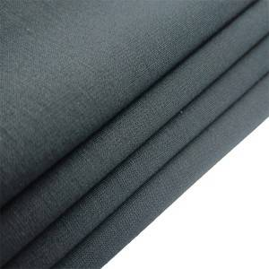 Short Lead Time for Polyester Cotton Drill Fabric - Knitted black stretch fabric for trouser – Yun Ai