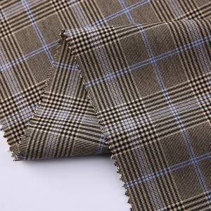 Italian suit woven check garment tartan polyester viscose mens suit fabric