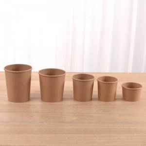 New Arrival China White Paper Soup Bowl - Kraft paper soup cup – JAHOO