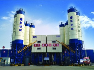 High-speed railway dedicated concrete batching plant