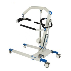 Foldable portable Patient transfer Lift hoist for handicapped