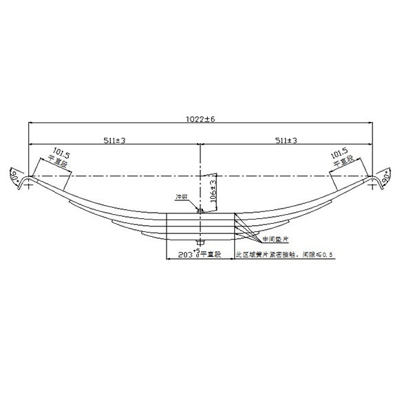 Chinese Professional Leaf Spring Suspension Parts - China Manufacturer supply TRA-699 leaf spring for trailer – Jiachuang