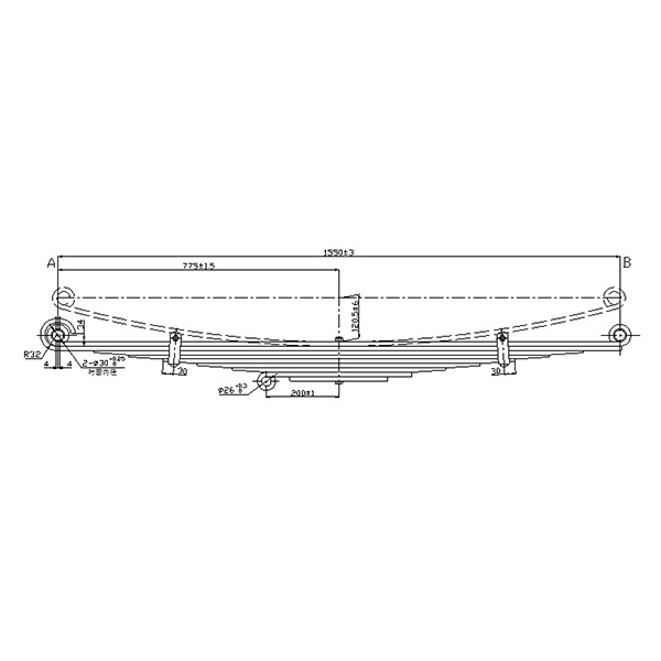 Best Price on Travel Trailer Leaf Springs - Professional manufacturer truck parabolic leaf spring for Nissan  – Jiachuang detail pictures