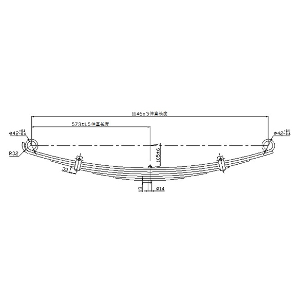 Excellent quality Leaf Spring Suspension - SUP steel auto parts truck light leaf spring  – Jiachuang detail pictures