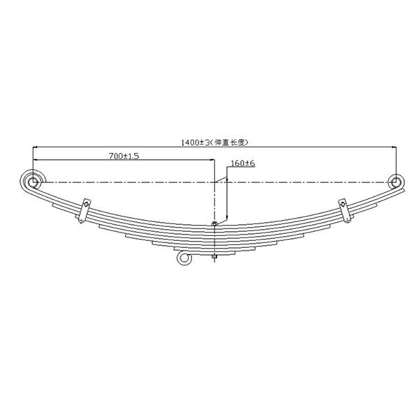 Renewable Design for ISUZU NQR Leaf spring - We supply high quality truck leaf spring for MITSUBISHI – Jiachuang