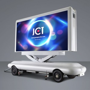 Factory Cheap Hot Led Mobile Trailer - 12㎡ Scissor Type Mobile LED Trailer – JCT