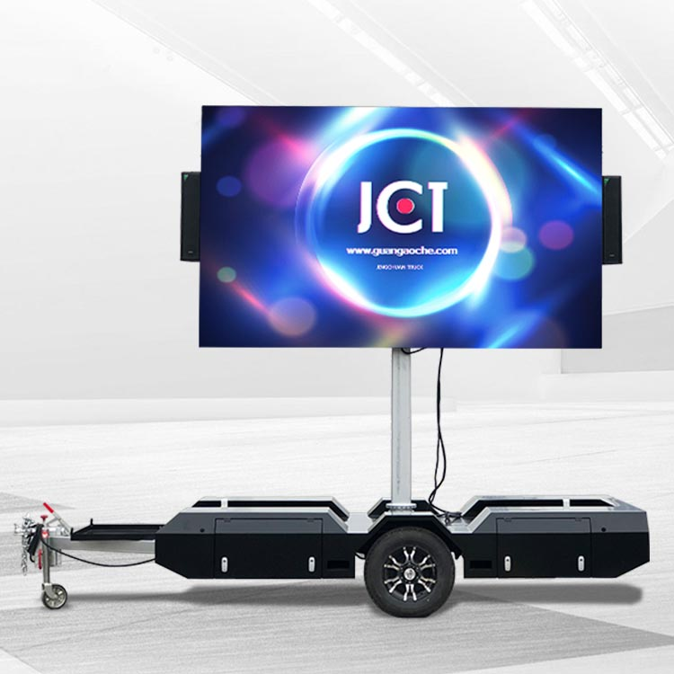 Factory source Trailer Mounted Led Screen – 6㎡ Mobile led trailer – JCT