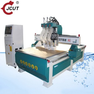 Three spindle wood cnc router machine