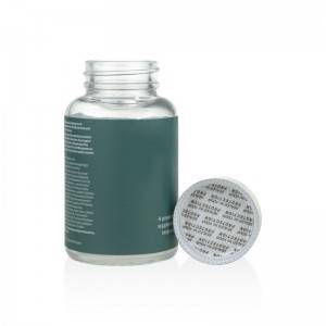 labeled 60ml 100ml 120ml wide mouth vitamin capsule bottle with silver aluminum lid