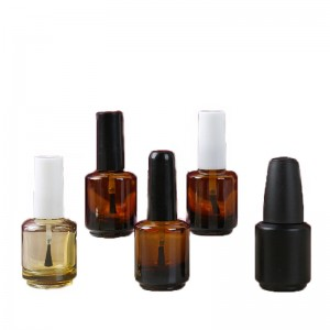 Custom Made 10ml150ml Cylinder Glass Uv Gel Empty Nail Polish Bottle With Brush