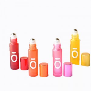 10ml thick colorful roller perfume bottle with customized logo
