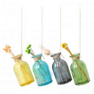 2020 New Style Car Hanging Perfume Bottle - Home wedding decoration colored reed diffuser glass aromatherapy bottle – Kingtone