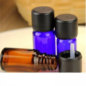 Wholesale amber glass essential oil bottle