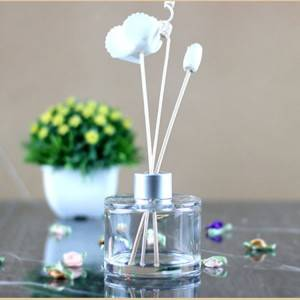 Low price for Decorative Diffuser Bottles - New Design Round Clear Glass Bottle Reed Diffuser Home Decorative Aromatherapy Aroma Reed Diffuser  – Kingtone