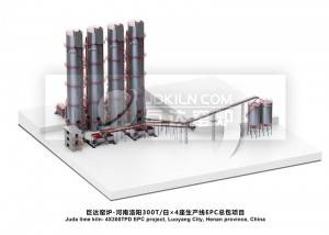 Juda kiln- 300 tons/day X4 Lime kilns in Luoyang, Henan Province-EPC project