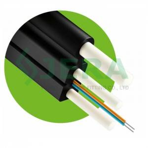 Fiber optic drop cable with FRP wire and FRP ro...