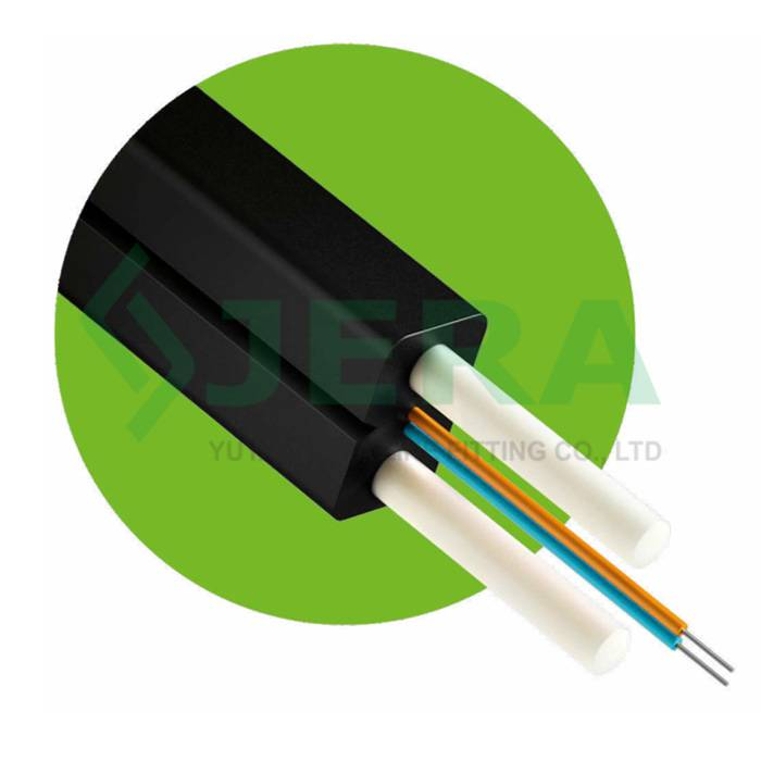 Good Quality Drop Cable - Fibre optic cable with Frp Rods, 4 Fibers – JERA