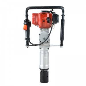 JHPRO JH-60 Heavy Duty JH60 Portable Petrol Hammer Piling Driver Handheld Gasoline Power Post Driver
