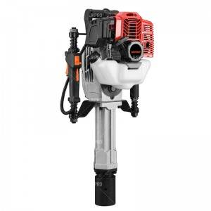 JHPRO JH-70 Heavy Duty Portable Petrol Hammer Piling Driver Handheld Gasoline Power Post Driver