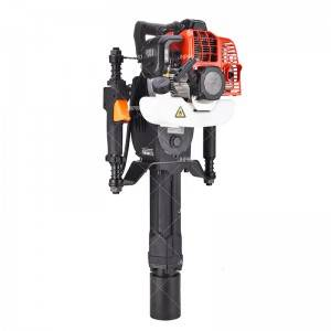 JHPRO JH-70A EPA Approved  Portable 52cc Gas Powered T Post Driver Fence with 2 Stroke Gasoline