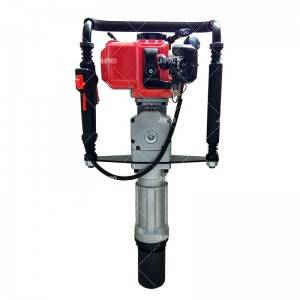 JHPRO H60 EPA Approved Gas Powered T Post Driver 52CC Pile Gasoline Engine Push Fence Farm Hammer