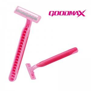 Classical Designed Rubber Handle Straight Triple Blade Disposable Razor SL-3006TL