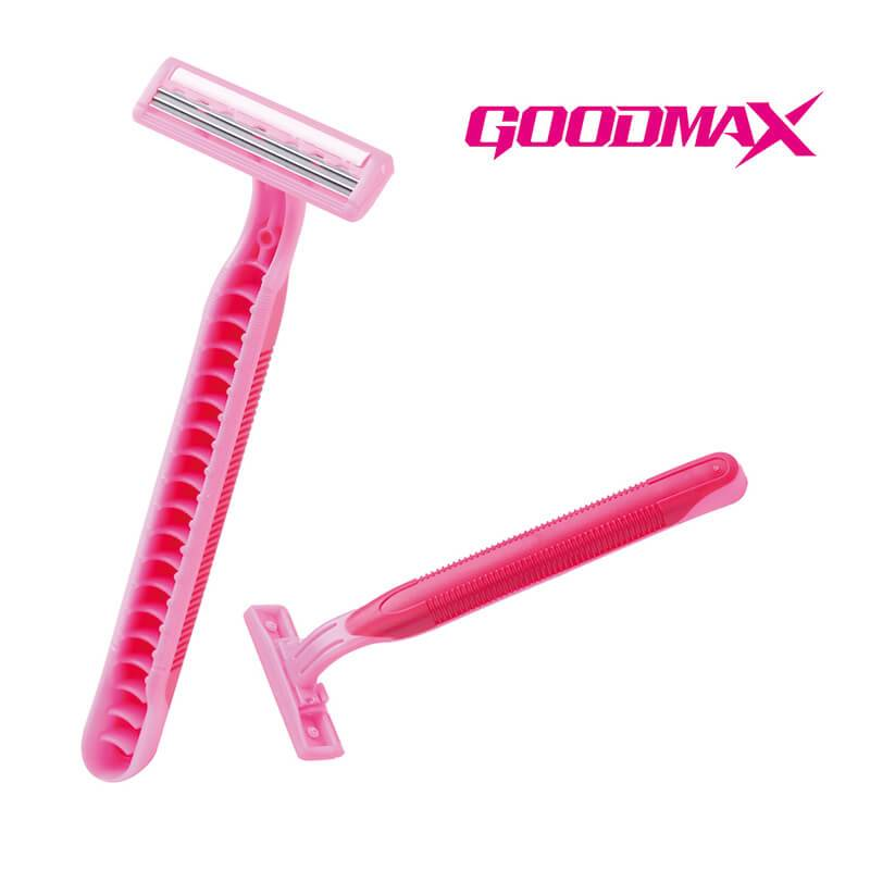 2021 Good Quality Female Safety Razor - Classical Designed Rubber Handle Straight Triple Blade Disposable Razor SL-3006TL – Jiali