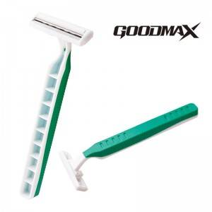 High quality cheap disposable shaving stainless steel twin blade razor SL-3012L