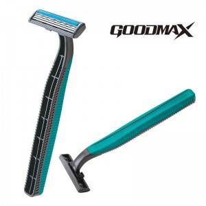 Economy long rubber handle disposable triple Blade men shaving razor SL-3018TL