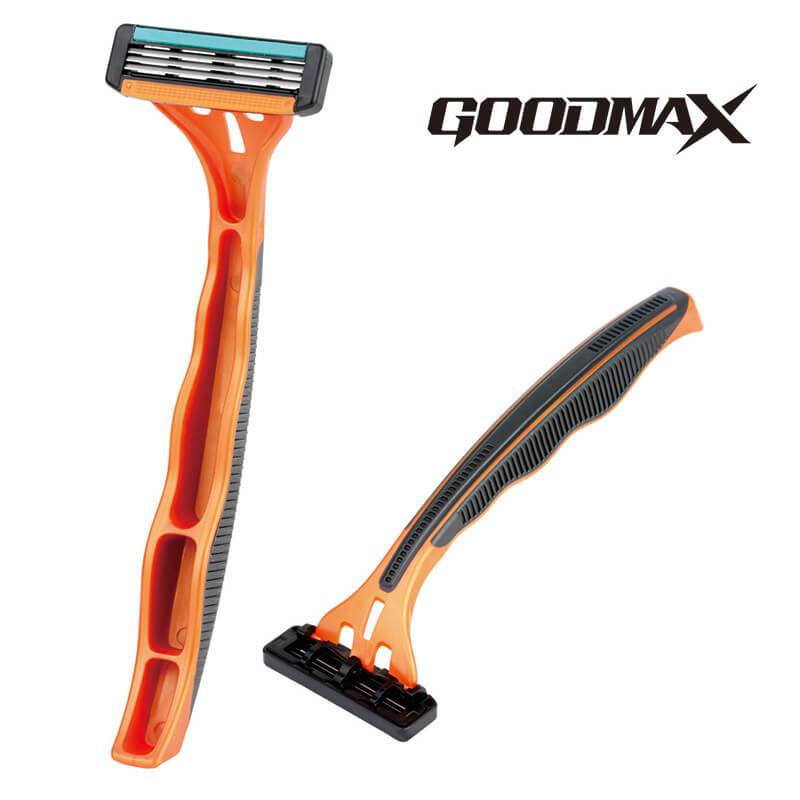 Best Price for Stand Disposable Razor - GoodMax good quality triple blade razor, open back washable blade SL-7004 – Jiali
