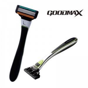 Zinc Alloy Handle 5 blade men shaving barber face disposable razor model 7005