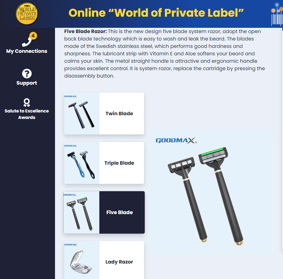 "JIALI Razor at Amsterdam Online ""World of Private Label"""