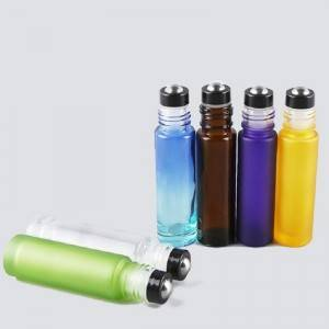 rainbow colored essential oil roller bottles 5m...