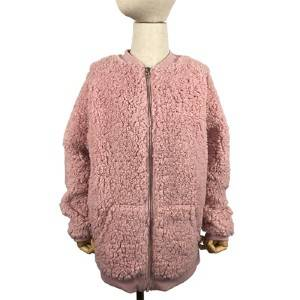 Embroidered lamb feather coat