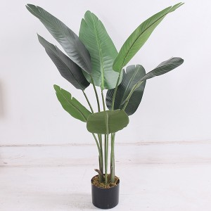 Hot selling Artificial Travelers Banana Tree Plastic Birds of Paradise Plants