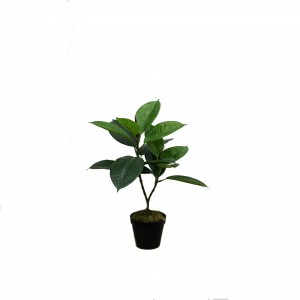 New style artificial rubber tree  small plants for table decor