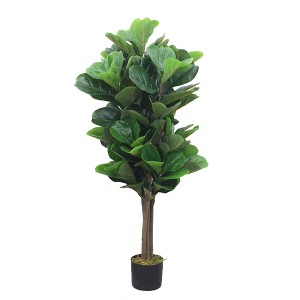 4Ft artificial fiddle plants fig leaves trees
