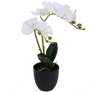 mini artificial orchid flower plants bonsai 40cm